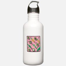 Pink Sushi Collage Water Bottle