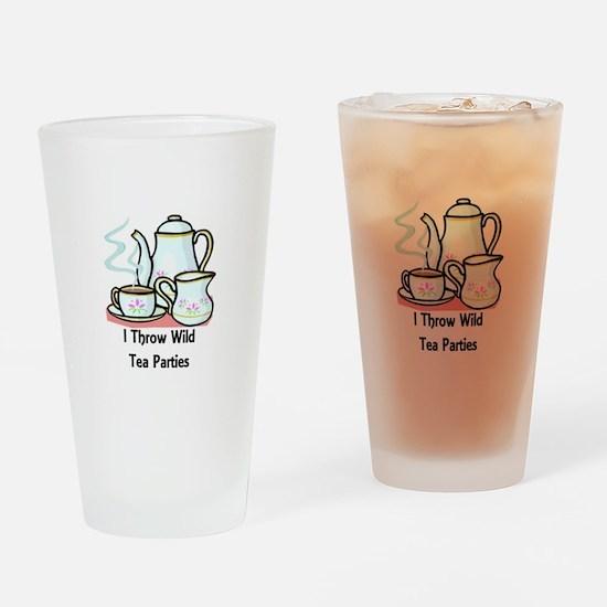 Wild Tea Parties Drinking Glass