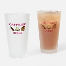 Caffeine Queen Drinking Glass