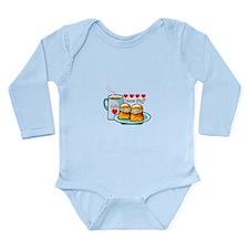 Coffee Cream Puff Long Sleeve Infant Bodysuit