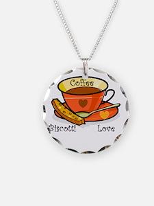 Coffee Biscotti Love Necklace