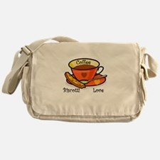 Coffee Biscotti Love Messenger Bag