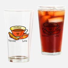 Coffee Biscotti Love Drinking Glass