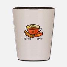 Coffee Biscotti Love Shot Glass