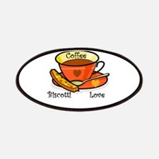Coffee Biscotti Love Patches