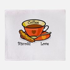 Coffee Biscotti Love Throw Blanket