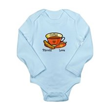 Coffee Biscotti Love Long Sleeve Infant Bodysuit