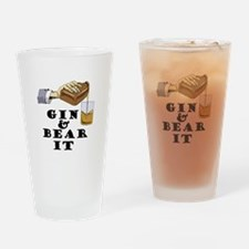 Gin and bear it Drinking Glass