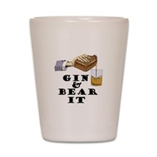 Gin and bear it Shot Glass