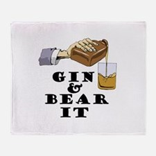 Gin and bear it Throw Blanket