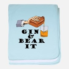 Gin and bear it baby blanket