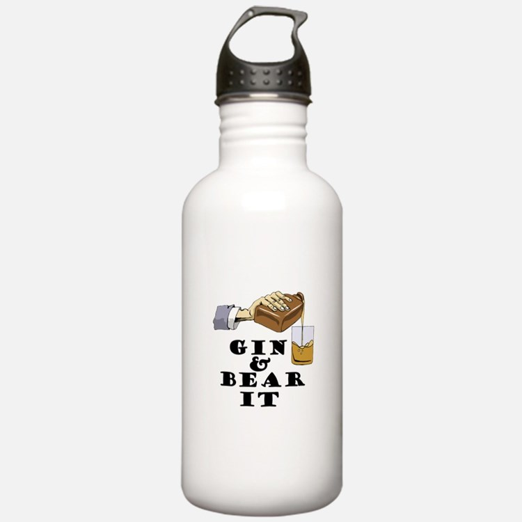 Gin and bear it Water Bottle