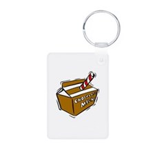 Cute Food and drink Aluminum Photo Keychain