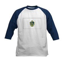 Massachusetts Flag Kids' Baseball Jersey