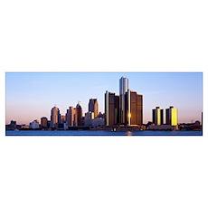 Detroit River Detroit MI Poster