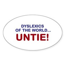 Dyslexics of the World Decal