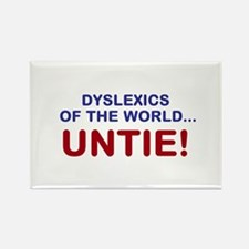 Dyslexics of the World Rectangle Magnet