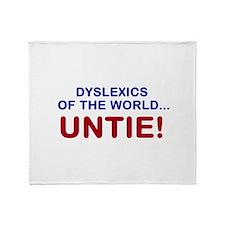 Dyslexics of the World Throw Blanket