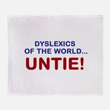 Dyslexics of the World Throw Blanket