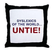 Dyslexics of the World Throw Pillow