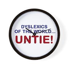 Dyslexics of the World Wall Clock
