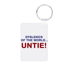 Dyslexics of the World Aluminum Photo Keychain