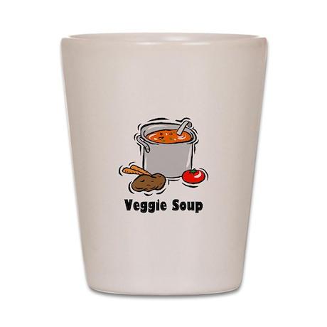 Veggie Soup Shot Glass