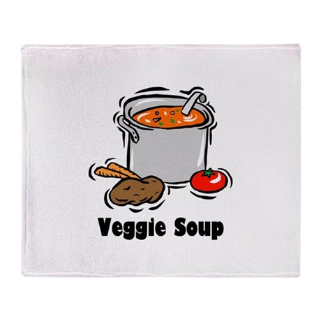 Veggie Soup Throw Blanket
