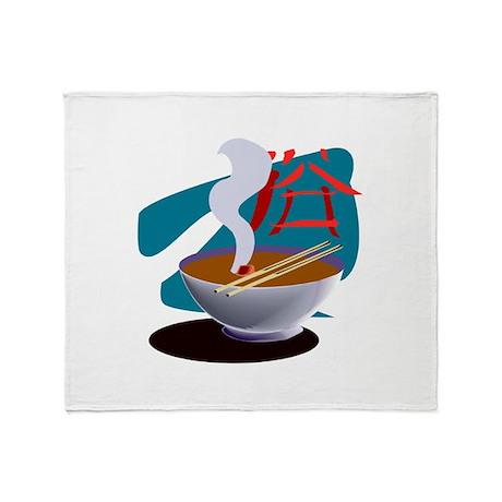 Miso Soup Throw Blanket