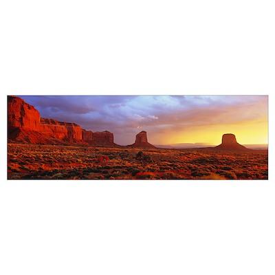 Sunrise Monument Valley AZ Poster