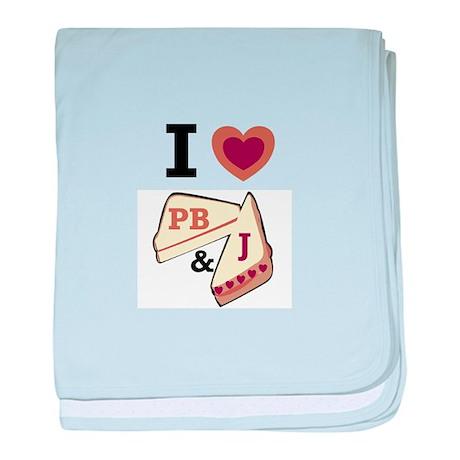 I Love PB&J baby blanket