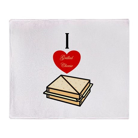 I love Grilled Cheese Throw Blanket