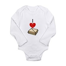 I love Grilled Cheese Long Sleeve Infant Bodysuit