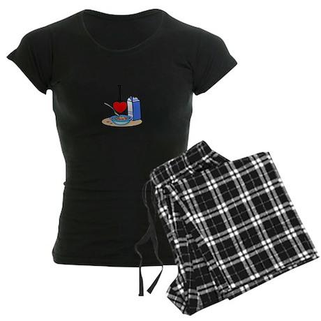 I Love Cereal Women's Dark Pajamas