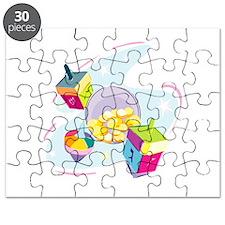 Pastel Dreidels Puzzle