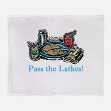 Pass the Latkes Throw Blanket