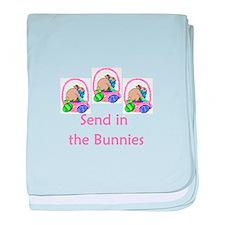 Send in the bunnies baby blanket