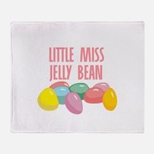 Little Miss Jelly Bean Throw Blanket