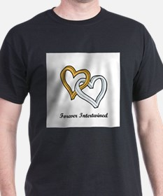 Cute Wedding perz intertwined hearts T-Shirt