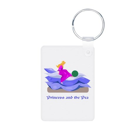 Princess and the pea Aluminum Photo Keychain