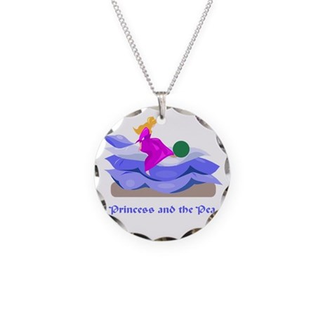 Princess and the pea Necklace Circle Charm