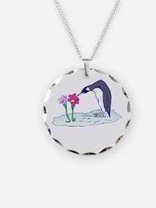 Flower Penguin Necklace