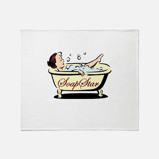 Soap Star Throw Blanket