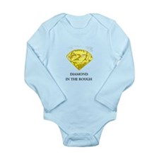 Diamond in the rough Long Sleeve Infant Bodysuit