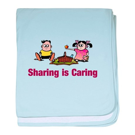 Sharing is Caring baby blanket
