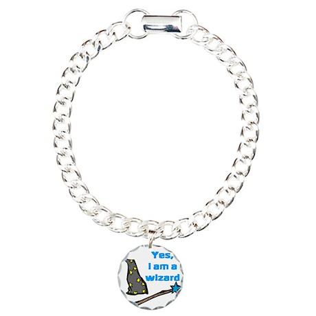 Yes, I am a wizard Charm Bracelet, One Charm