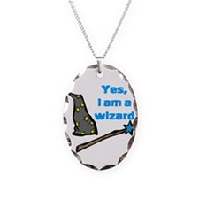 Yes, I am a wizard Necklace Oval Charm