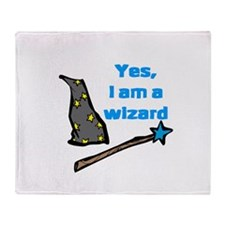 Yes, I am a wizard Throw Blanket