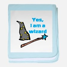 Yes, I am a wizard baby blanket