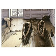 The Parquet Planers, 1875 (oil on canvas) Poster